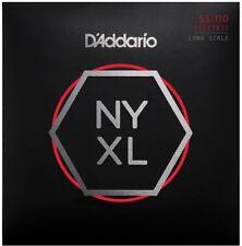 D'ADDARIO NYXL55110 NICKEL PLATED STEEL BASS STRINGS, HEAVY GAUGE 4's 55-110