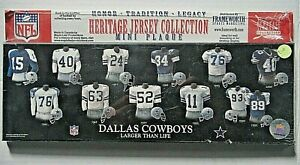 "Dallas Cowboys Heritage Jersey Collection Mini Plaque 5"" x 15"" (2000 Frameworth)"