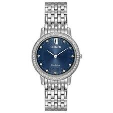 Citizen Eco-Drive Silhouette Crystal Ladies Watch EX1480-58L New in Box w/ Tag