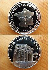 COLLEC Trésor patrimoine FRANCE médai NIMES MAISON CARREE diam 4 cm cupro-nickel