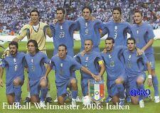 Fußball Weltmeisterschaft + Weltmeister Postkarten Serie + 2006 + ITALIEN +