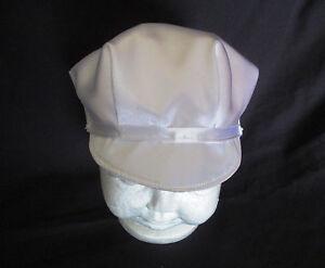 Baby Boy White Satin Christening/Baptism /Wedding Cap Hat  Size 0-18 M