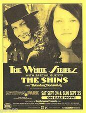 White Stripes The Shins Concert Handbill Mini Poster Coney Island Ny 2005