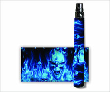 Battery Sticker Skins Fits eGo/Vision/Other Vapor Cover Decal Wraps -FLAME SKULL