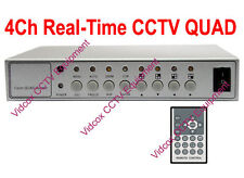 4 Channel Real Time CCTV Quad Processor Video Splitter CCTV Surviellance Cameras