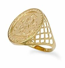 Coin Yellow Gold Precious Metal Rings without Stones