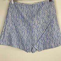 Kookai Women's Felted Blue Zip Skort Skirt Shorts Size M