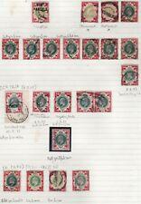 1902/13 EDWARD VII 1s GREEN  & CARMINE/COLLECTION CDS's SOUND USED GOV'T PARCELS