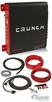Crunch PX 1000.2 1000 Watts Car Audio Amplifier + Belva Bak82 Amp Kit Package