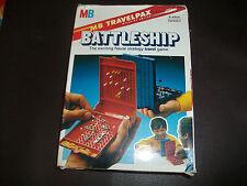 Vintage Travel Battleship Game MB Travelpax 1982 Free P+P