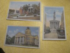 3 old Virginia courthouse postcards: Wytheville, Bedford, Petersburg NEAR MINT