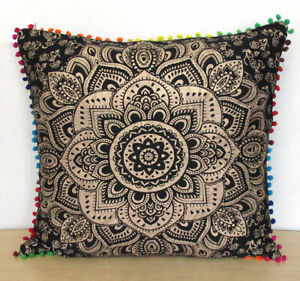 Beautiful Cotton Indian Mandala Square Cushion Cover Pillow Cover Pillow Cases