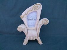 """Picture Frame  Frameology Rare Yellow """"Funky Chair"""" Single Photo Ceramic Picture"""