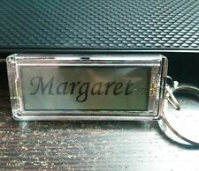 Your Name Personalized key chain Gift Idea Key Ring Solar Powered Blinks Names