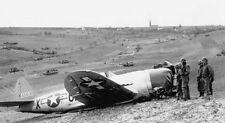 WW2 Photo WWII P-47 Thunderbolt Crash Landing 1945  World War Two / 5189