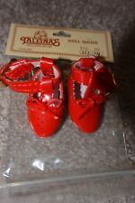 Tallinas Doll Shoes Red Dressy Shoes w/ Side Ankle Buckle Style 223 Size 10