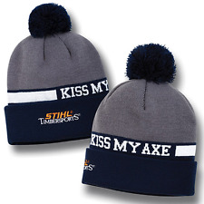 STIHL Timbersports Knit Beanie Hat Cap Kiss My Axe!