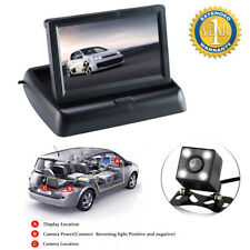 "4.3"" LCD HD Screen Monitor Wired 12V Car Van Rearview Reverse Parking Camera Kit"