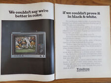 1970 Sony TV Television Ad Trinitron Better in Color