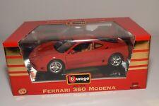 V 1:18 BBURAGO BURAGO 3358 FERRARI 360 MODENA RED MINT BOXED