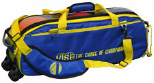 Vise Blue/Yellow 3 Ball Tote Bowling Bag