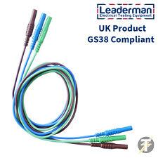 Ldm202 Marrón/ Verde/ Azul Test Cables Set para Kewtech, MULTIFUNCION