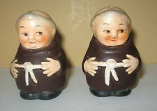 Francisian  Monk Salt & Pepper Shakers Goebel