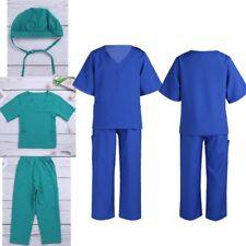 Kids Fancy Hospital Surgeon Dr Uniform Girls Boys Party Cosplay Costume 3PCS/Set