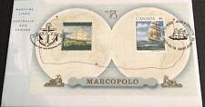 Australia fdc 1999 Maritime Links Australia & Canada Marcopolo