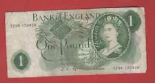 RARER ONE POUND £1 FFORDE 1967 PREFIX  [ T29M 170426 ] REPLACEMENT NOTE