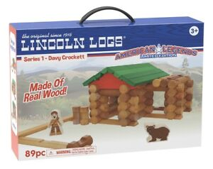 Hasbro Lincoln Logs Series 1 Davy Crockett American Legend Limited Edition 65 Pc