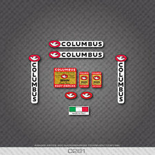 0281 Columbus Eddy Merckx Custom Brain Bicycle Frame and Fork Stickers - Decals
