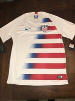 Nike Men's Size Large USA 2018 Stadium Home Soccer Jersey 893902-100 World Cup
