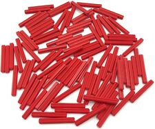 LEGO LOT OF 100 NEW RED 1 X 1 BALL JOINTS WITH THROUGH AXLE HOLE
