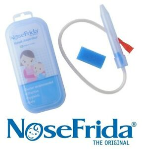 Genuine NoseFrida Baby Toddler Snotsucker Nasal Aspirator + 4 Filters Nose Frida