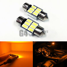 2x DE3175 31mm Festoon LED Blub 5730 SMD Error Free Canbus Dome Map Light Yellow