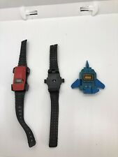 Vintage Toy Watch Lot Transformers Watch Blue Starscream Fighter Jet Red Car