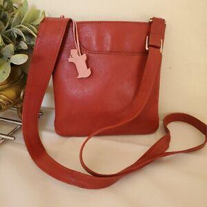 Radley Leather Crossbody Pockets Messenger Shoulder bag Red small (NR)