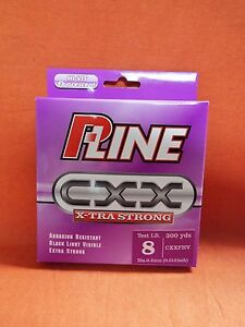 P-LINE CXX X-tra Strong Fishing Line 8lb (300yd) #CXXFHV-8 Hi-Vis Fluorescent