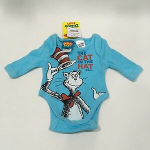 Size 00000 The Cat in the Hat Dr. Suess Baby Bodysuit One Piece NEW