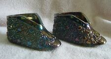 1960/70s FENTON Old Virginia Glass Amethyst Carnival Shoes Shoe (pair)