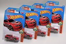 SUBARU WRX STI * LOT OF 4 * 2016 HOT WHEELS * RED RALLY RACER GRAVEL CREW