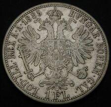 AUSTRIA 1 Florin 1885 - Silver - Franz Joseph I. - VF- - 3218