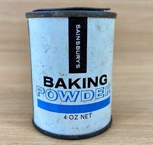 Sainsburys Vintage Baking Powder Tin Own Brand Sainsbury's