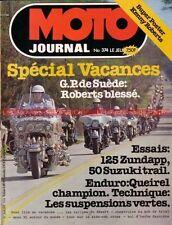 MOTO JOURNAL  374 Zündapp 125 SUZUKI TS 50 NSU 250 Sportmax GP de Suède 1978