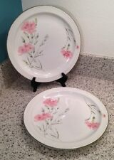 "MIDWINTER England INVITATION Carnation Pattern 10 1/2"" DINNER PLATES Set Of 2"