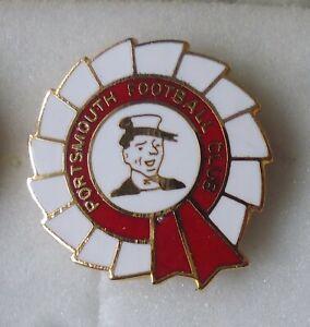 PORTSMOUTH Enamel Pin Badge FOOTBALL CLUB ROSETTE Shaped