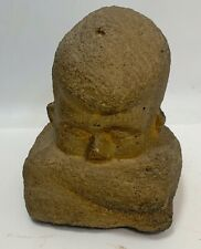 Victor Salmones  Mexico Carved Stone Sculpture-Boy with Crossed arms-Granite?