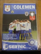 11/10/2017 Coleshill Town v Blaby And Whetstone [FA Vase] . Thank you for viewin