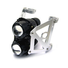 Motorbike Streetfighter Headlight Projector Set -Dual Stacked Projector 46-47mm